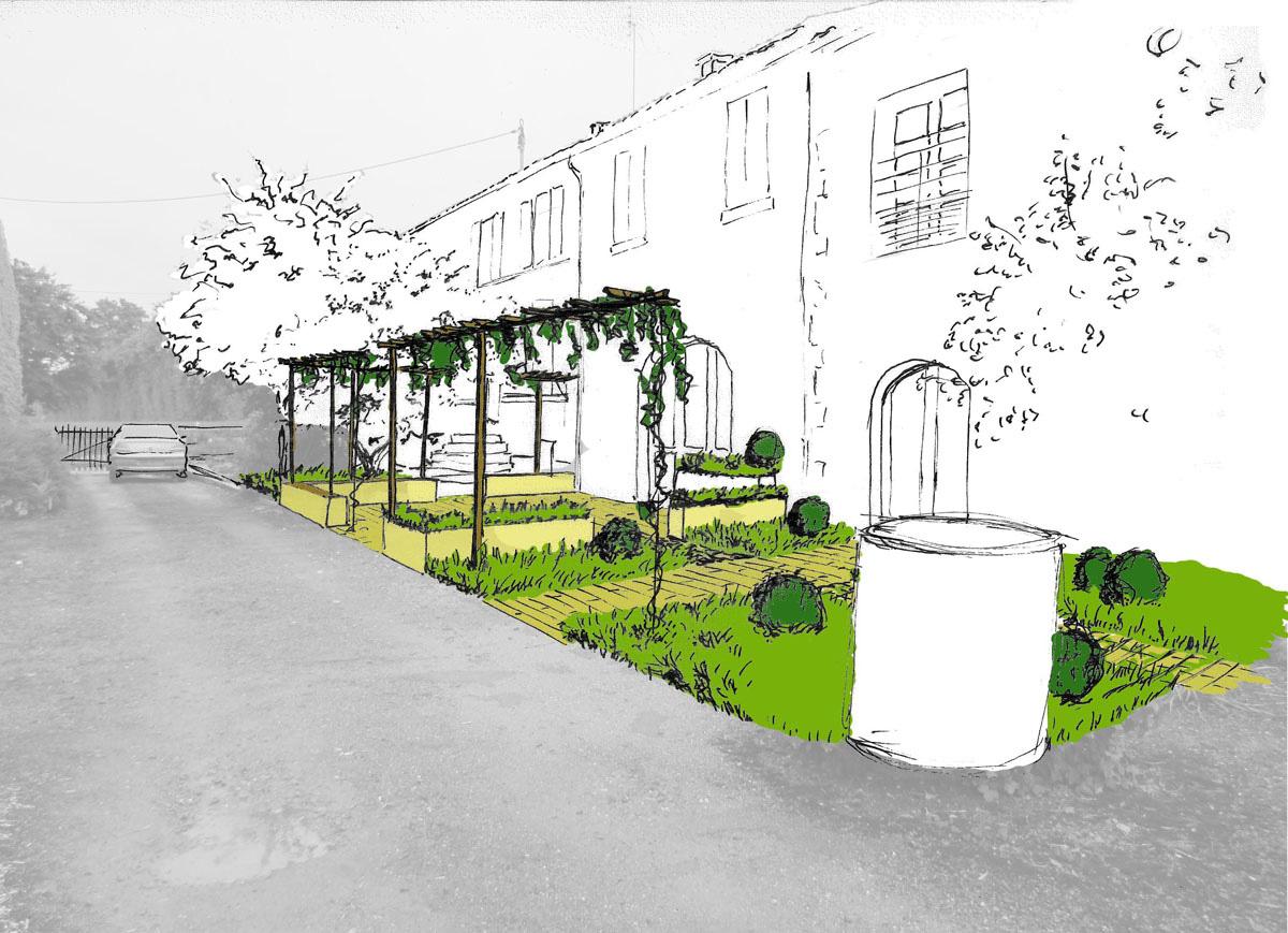 Jardin de campagne le champ du platane for Dessiner plan jardin