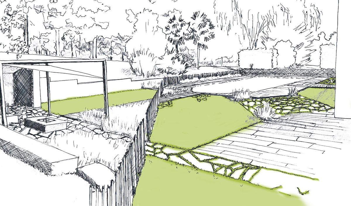 02 esquisse couleur paysagiste concepteur le champ du platane. Black Bedroom Furniture Sets. Home Design Ideas